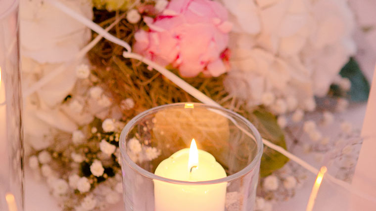 Kerze als Deko